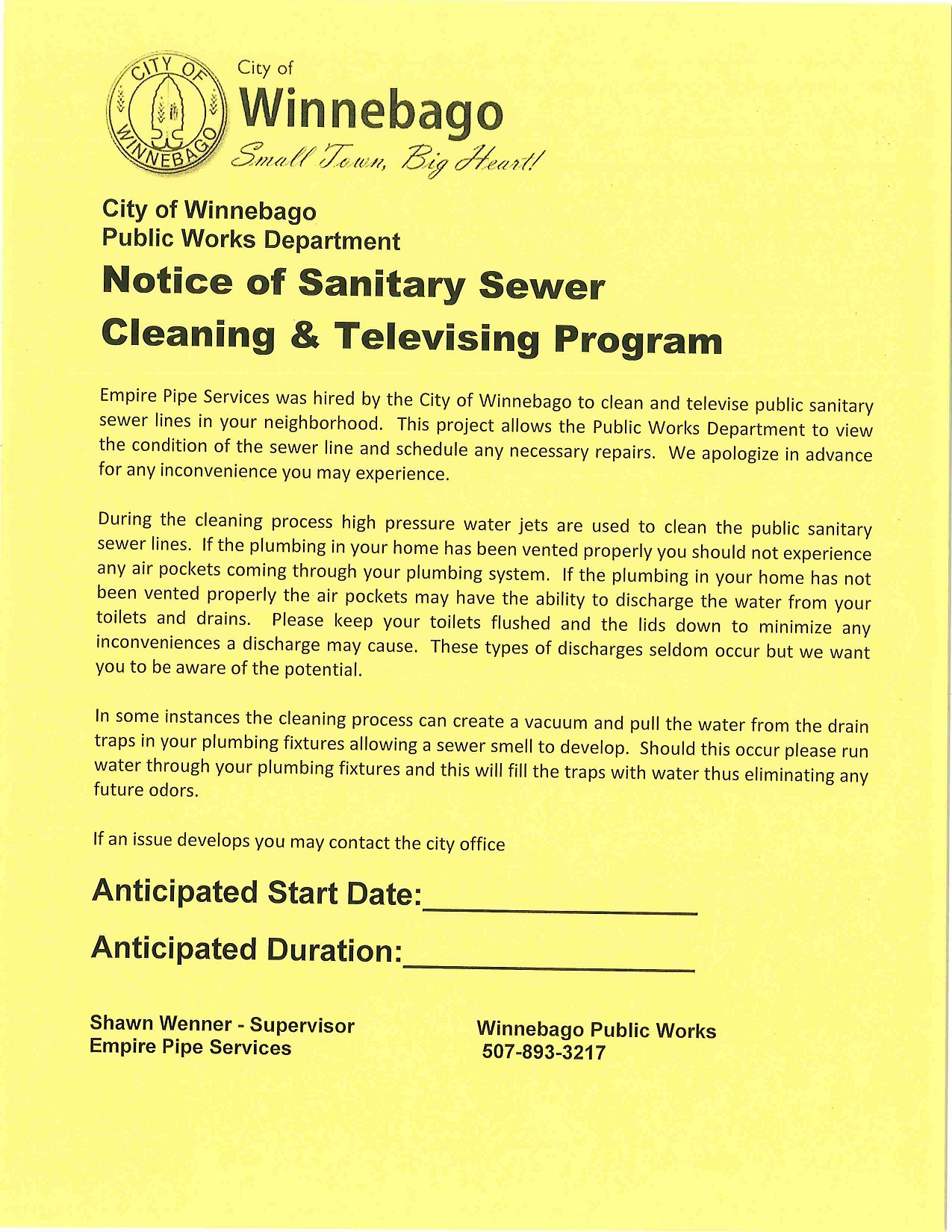 Sanitary Sewer Cleaning and Televising