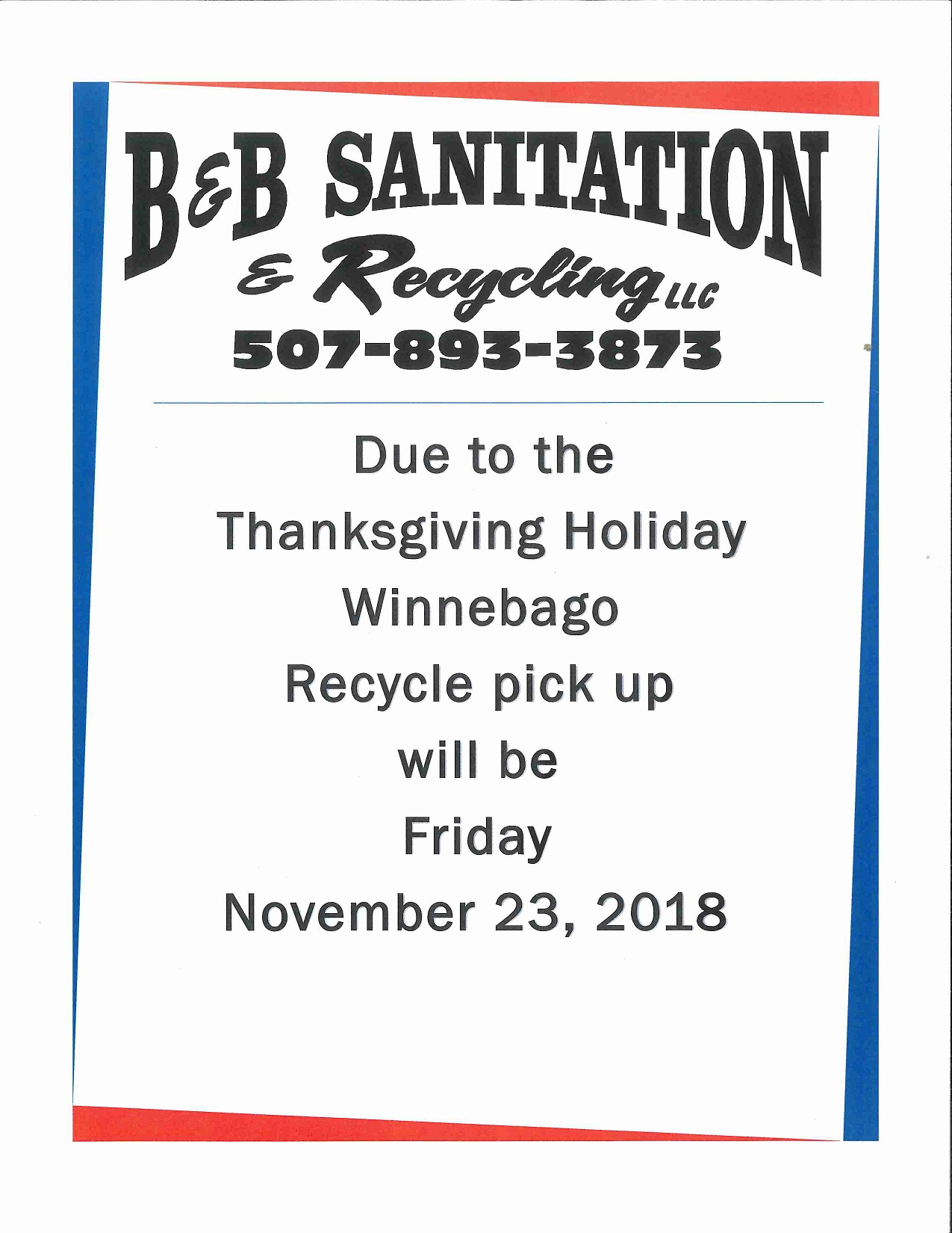 Thanksgiving Recycling Change